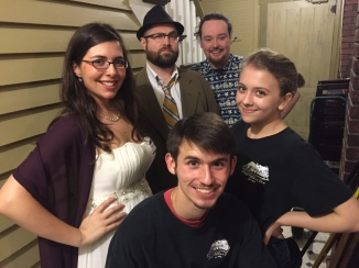 """Cast of """"Murder at the Nu Wray"""", from the October Murder Mystery"""